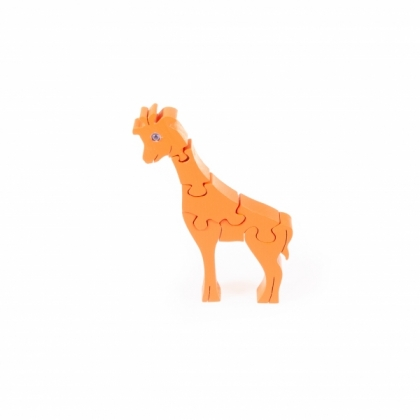 Puzzle 3D Giraffe, orange