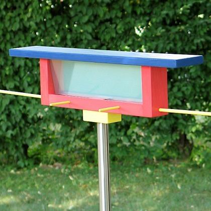 Langbank farbig Vogelfutterstelle