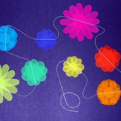Gar-Lang farbige Blumen