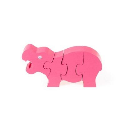 Puzzle 3-D Nilpferd, pink
