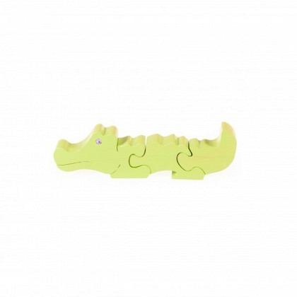 Puzzle 3-D Krokodil, grün