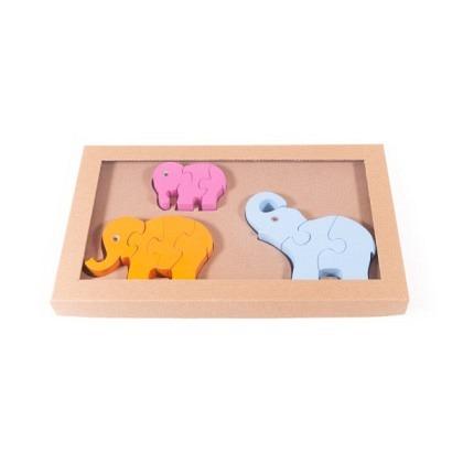 Puzzle 3-D Elefanten, 3er-Set