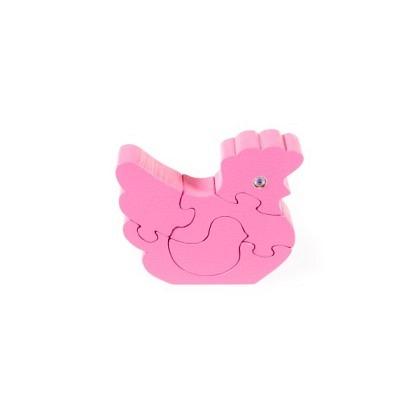 Puzzle 3-D Huhn, pink