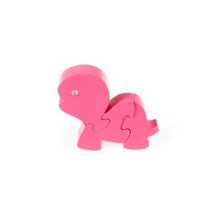 Puzzle 3-D Schildkröte, pink