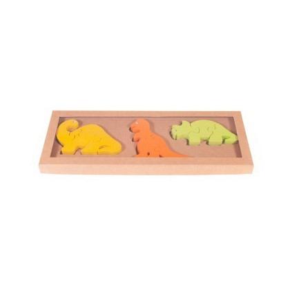 Puzzle 3-D Dinosaurier 3er-Set