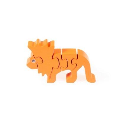 Puzzle 3-D Löwe, orange