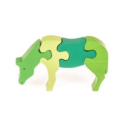 Puzzle 3-D Pferd fressend, grün