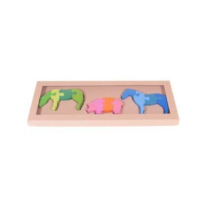 Puzzle 3-D Pferde-/Schwein-Set
