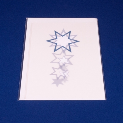 "Karte ""Filetsterne"" A5 blau"
