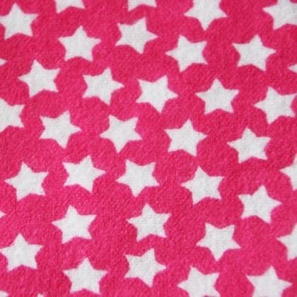 Kirschkernkissen Sterne pink
