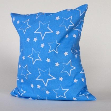 Kirschkernkissen Sterne blau / weiss