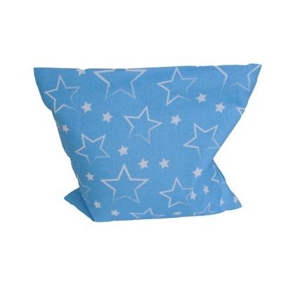 Traubenkernkissen Sterne blau / weiss